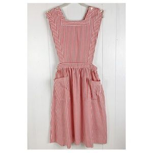 Vintage candy striper apron dress